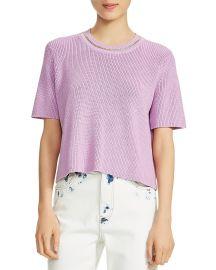 maje Short-Sleeve Chain-Trim Sweater at Bloomingdales