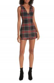 maje Sleeveless Plaid Romper at Nordstrom