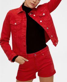 mango Denim Cotton Jacket at Macys