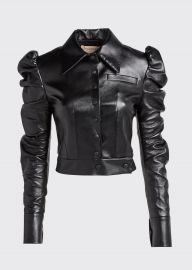 materiel Puff-Sleeve Faux-Leather Jacket at Bergdorf Goodman