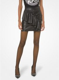 michael korFaux Leather Ruched Skirts at Michael Kors