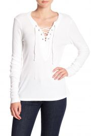 michael stars Lace-Up Long Sleeve Tee at Nordstrom Rack