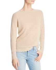 minnie rose Distressed Cashmere Crewneck Sweater at Bloomingdales