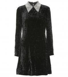 miu miu Embellished velvet minidress at My Theresa