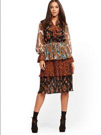 mixed print dress at NY&C