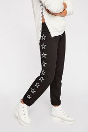 monrow Sweatpants With Outline Stars at Free People