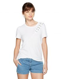 n PHILANTHROPY Women s Gaia Short Sleeve with Lacing Detail at Amazon