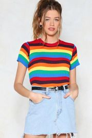 nasty gal With Flying Colors Knit Tee at Nasty Gal