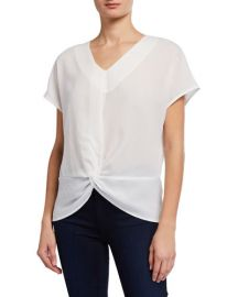 neiman marcus Knot-Front Top at Last Call