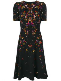 night pansy printed tea dress by Givenchy at Farfetch