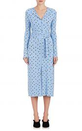 nina ricci Dot-Print Stretch-Crepe Dress at Barneys