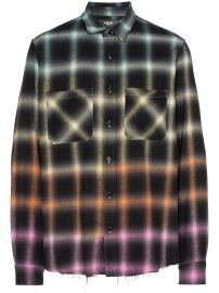 ombre plaid shirt at Farfetch