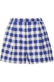opped Gingham Fil Coupe Cotton Top by MDS Stripes Shorts: Gingham Shorts by MDS Stripes at Net A Porter