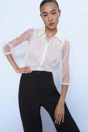 organza blouse at Zara