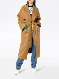 oversized belted wool cashmere-blend coat at Farfetch