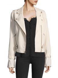 paige Rhoda Twill Moto Jacket at Saks Fifth Avenue