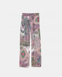 paisley print pants at Zara
