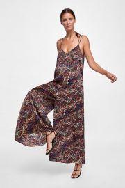 paisley print jumpsuit at Zara