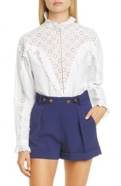 philosophy-di-lorenzo-serafini-eyelet-ruffle-cotton-poplin-blouse at Nordstrom
