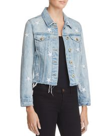 pistola Star Spangled Cut-Off Denim Jacket  at Bloomingdales