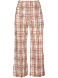 plaid print cropped trousers at Farfetch