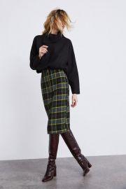 plaid tube skirt at Zara