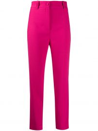 plain high waisted trousers at Farfetch