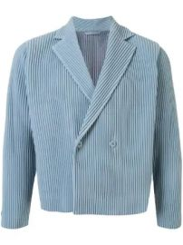 pleated double-breasted jacket at Farfetch