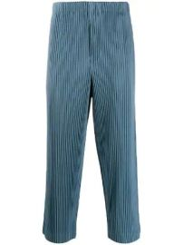 pleated straight-leg trousers at Farfetch