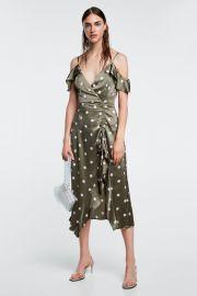 polka-dot dress at Zara