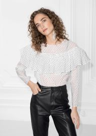 polka dot frill blouse  at & Other Stories