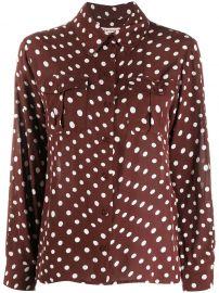 polka dot print long-sleeve shirt at Farfetch