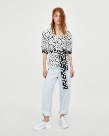 polka dot print top at Zara