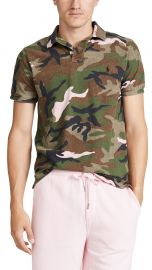 polo Short Sleeve Mesh Camo Polo Shirt at East Dane