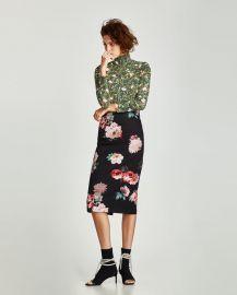 polyamide t-shirt with turtleneck at Zara
