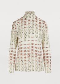 prada printed blouse at 24S