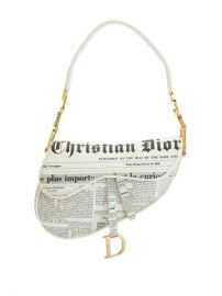 pre-owned Newspaper Saddle handbag at Farfetch