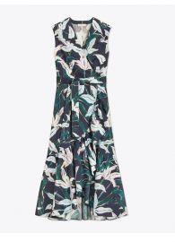 print wrap dress at Tory Burch