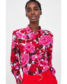 printed blouse by zara at Zara