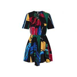 printed dress at Louis Vuitton