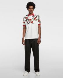 printed polo shirt at Zara