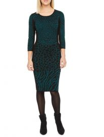 quarter Sleeve Animal Print Sweater Dress  Danny  Nicole  at JCPenny