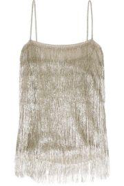 rachel zoe Wick metallic fringed camisole at Net A Porter
