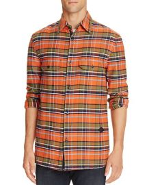 rag  amp  bone Hudson Flannel Plaid Regular Fit Button-Down Shirt at Bloomingdales