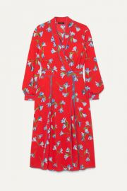 rag   bone - Hugo floral-print crepe de chine wrap dress at Net A Porter