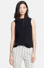 rag   bone  Easy Becker  Leather Trim Top at Nordstrom