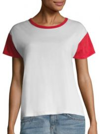 rag   bone JEAN - Colorblock Cotton Tee at Saks Fifth Avenue