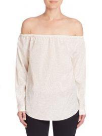 rag   bone JEAN - Polka Dot Off-The-Shoulder Blouse at Saks Fifth Avenue