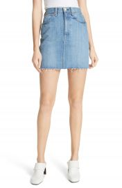 rag   bone JEAN Moss High Waist Denim Miniskirt  Clean Levee at Nordstrom