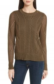 rag   bone Pamela Crewneck Pointelle Sweater at Nordstrom